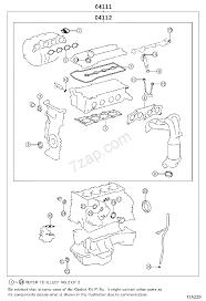 ENGINE OVERHAUL GASKET KIT[ ILLUST NO. 1 OF 2(1112- )1AZFE ] TOYOTA ...