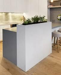 kitchen with built in herb garden marble