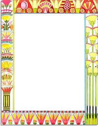Flower Border Designs For Paper Borders Paper Designs Drawn Design Flower Border 2 Paper Border