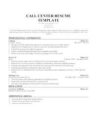 Call Center Resume Template Job Description For Supervisor