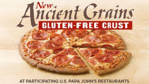 papa john s has joined the growing ranks of pizza chains offering gluten free pizza