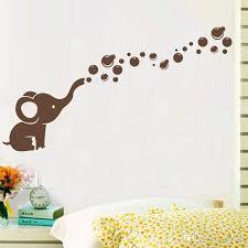 nursery wall stickers cute elephant bubbles vinyl wall art sticker waterproof nursery wall decal for baby