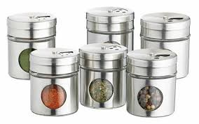 home made set of  stainless steel spice jars amazoncouk