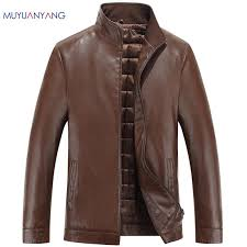 2018 whole new men leather biker jackets autumn winter mens leather jacket brand casual zipper faux leather jacket and coats men clothing from keviny