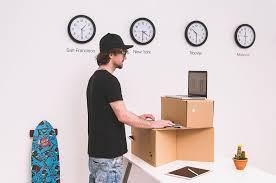 cardboard standing desks