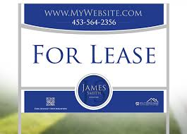 for lease sign template real estate yard sign template template