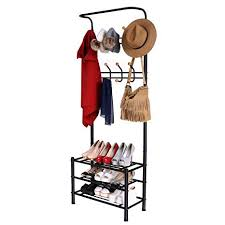 Metal Entryway Storage Bench With Coat Rack Unique Amazon Homdox Entryway Storage Bench Coat Rack Hall Tree With