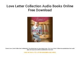 Love Letter Free Download Love Letter Collection Audio Books Online Free Download