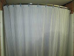 smlf vertical striped shower curtains with curved shower curtain tension mounted shower curtain rod bathroom decor ceiling