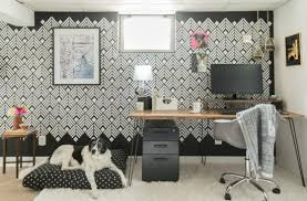 deco office. A DIY Black And White Home Office Accent Wall Using The Deco Diamonds Allover Stencil From E