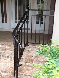 Trendy ft x in white stair rail kit. Custom Wrought Iron Residential Railings Raleigh Wrought Iron Co Wrought Iron Porch Railings Wrought Iron Railing Exterior Iron Railings Outdoor