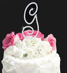 monogrammed wedding cakes. image of: monogrammed wedding cake toppers initials cakes