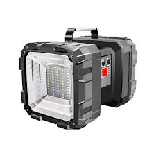 Portable Bright Lights Us 17 85 37 Off Portable Bright Double Head Flashlight Searchlight Lamp Usb Rechargeable Outdoor Emergency Camping Light Work Light Original In