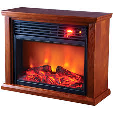 large image for this profusion heat infrared electric fireplace puts soothing handsome wooden cabinet xtremepowerus quartz