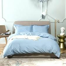 multi colored twin duvet cover light blue tencel cotton linen solid color duvet cover set queen