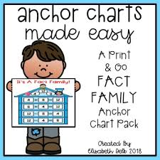 Fact Families Anchor Chart Worksheets Teaching Resources Tpt