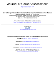 Vocational Careers List Pdf Self Efficacy And Vocational Outcome Expectations For