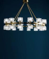 crystal round chandelier brass crystal