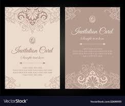 Invitation Card Luxury Template Design