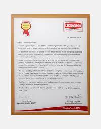 Britania Appreciation Letter For Channel Partner 2014
