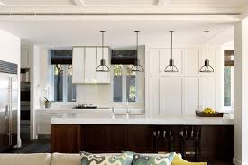 mission style pendant lighting transitional kitchen also breakfast