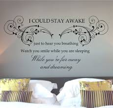 Romantic Bedroom Wall Decor Bedroom Decal Decor Romantic Wall Words For Master And Quotes