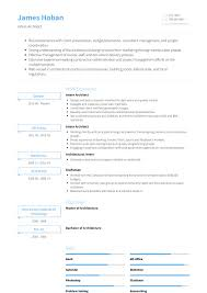 Cv Exemplars Architectural Intern Cv Examples Clair At Resume