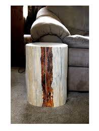 creative wooden furniture. Creative Home Furniture Designs Using Tree Stump End Tables : Amazing Ideas Brown Wooden