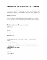 Medical Field Resume Examples Health Care Free Printable Manager