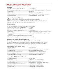 Choir Concert Program Ideas Church Musical Template