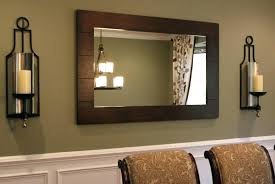 mirrored candle wall sconce mirror sconces decor dining room antique moun