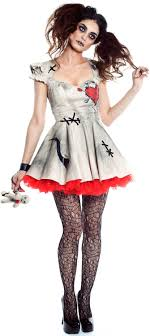 y scary voodoo doll dalia costume