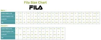 12 Interpretive Fila Sneakers Size Chart