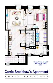 19 famous floorplans from your favorite and tv show homes house floor plans carry bradshaw