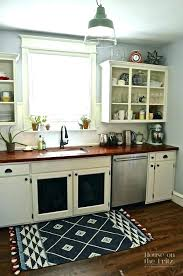 gray kitchen mat farmhouse cute rugs black white and red geometric flat weave mats sink beacon painted yellow kitchen mat