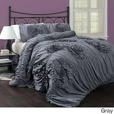 ruffle comforter king ruffle comforter set king grey bedding shabby chic all modern white ruffle king ruffle comforter