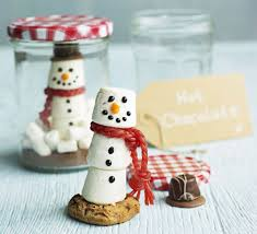 Snow Globe Hot Chocolate  Recipe  Marshmallow Snowman And ChocolateChocolate For Christmas Gifts