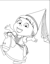Small Picture Despicable Me Agnes Coloring Pages GetColoringPagescom