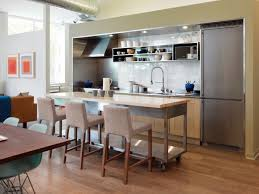 Brilliant Kitchen Island Ideas For Small Spaces Grey Rectangle Modern Metal To