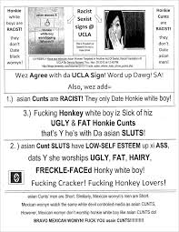 racist flyer targets white guys asian girls at ucla warning