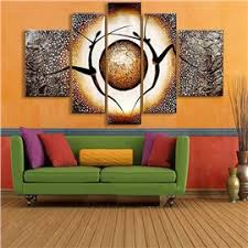 51 Dancers and Planet Pattern Hanging Canvas Waterproof and Eco-friendly  5-Panel Framed Prints