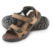 guide gear men s strap sandals memory foam brown