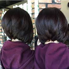 black stacked bob hairstyles