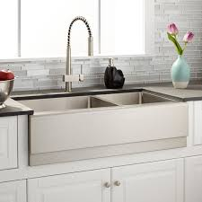 36 optimum 60 40 offset double bowl stainless steel farmhouse sink
