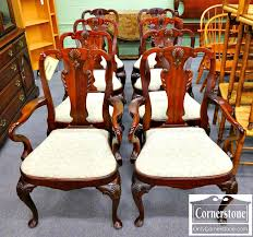 maitland smith dining room chairs. maitland smith set of 8 solid mahogany queen anne dining room chairs with balloon seats - sold n