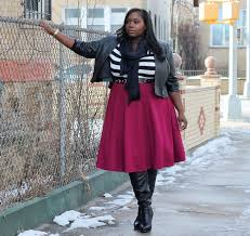pink leather skirt plus size