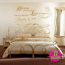 A Little Bit Of Heaven Wall Stickers & Decals Pertaining To Gold Wall Art  Stickers (