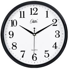 compas wall clock fashion bedroom living room office mute charts simple creative quartz black white 2246c o48 clock