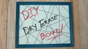 DIY Glass Dry Erase Board (Using Old Picture Frame) - YouTube