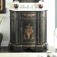 painted vanity inch antique hand painted vintage black finish vanity painting vanity cabinets black